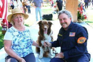 Bill and Hunter with Mary Sue Berkley