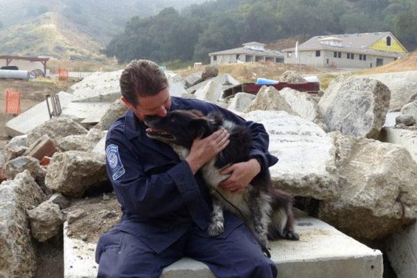 Search Dog Gypsy and Handler Tom Carney