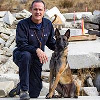 Search Dog Delta & Handler Dane Yaw